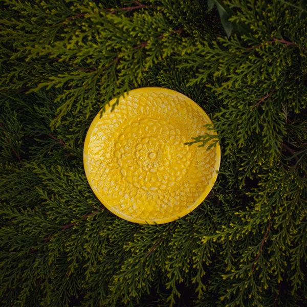тарелка желтая маленькая