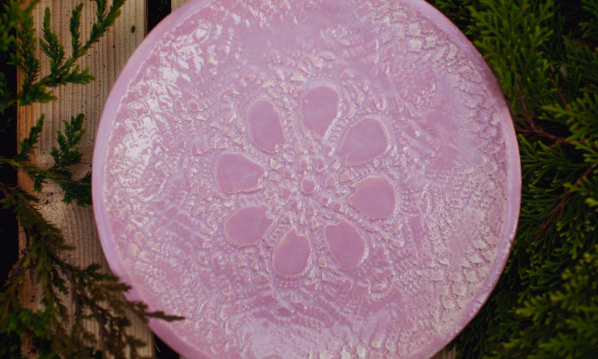 тарелка розовая средняя