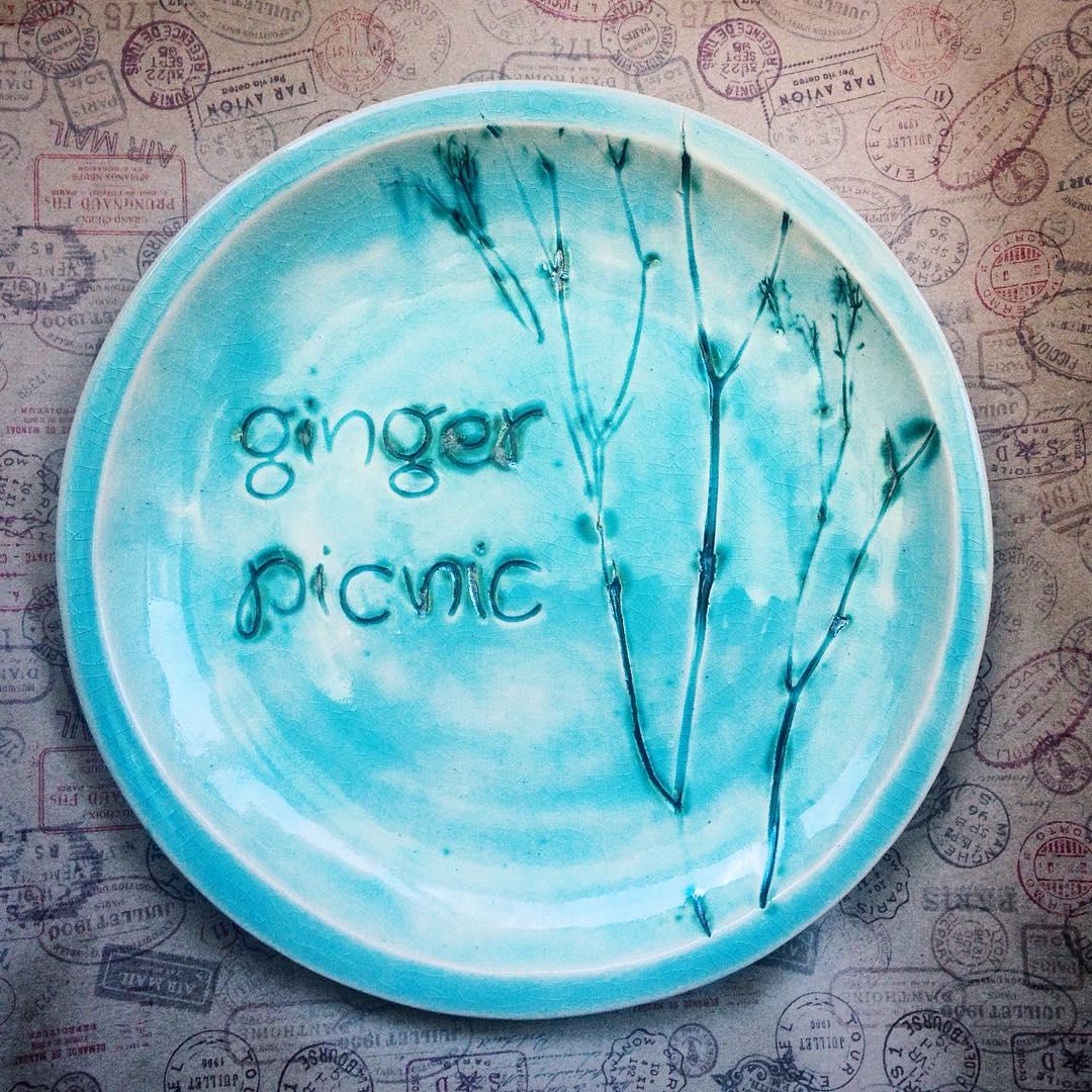 тарелка с индивидуальным декором средняя
