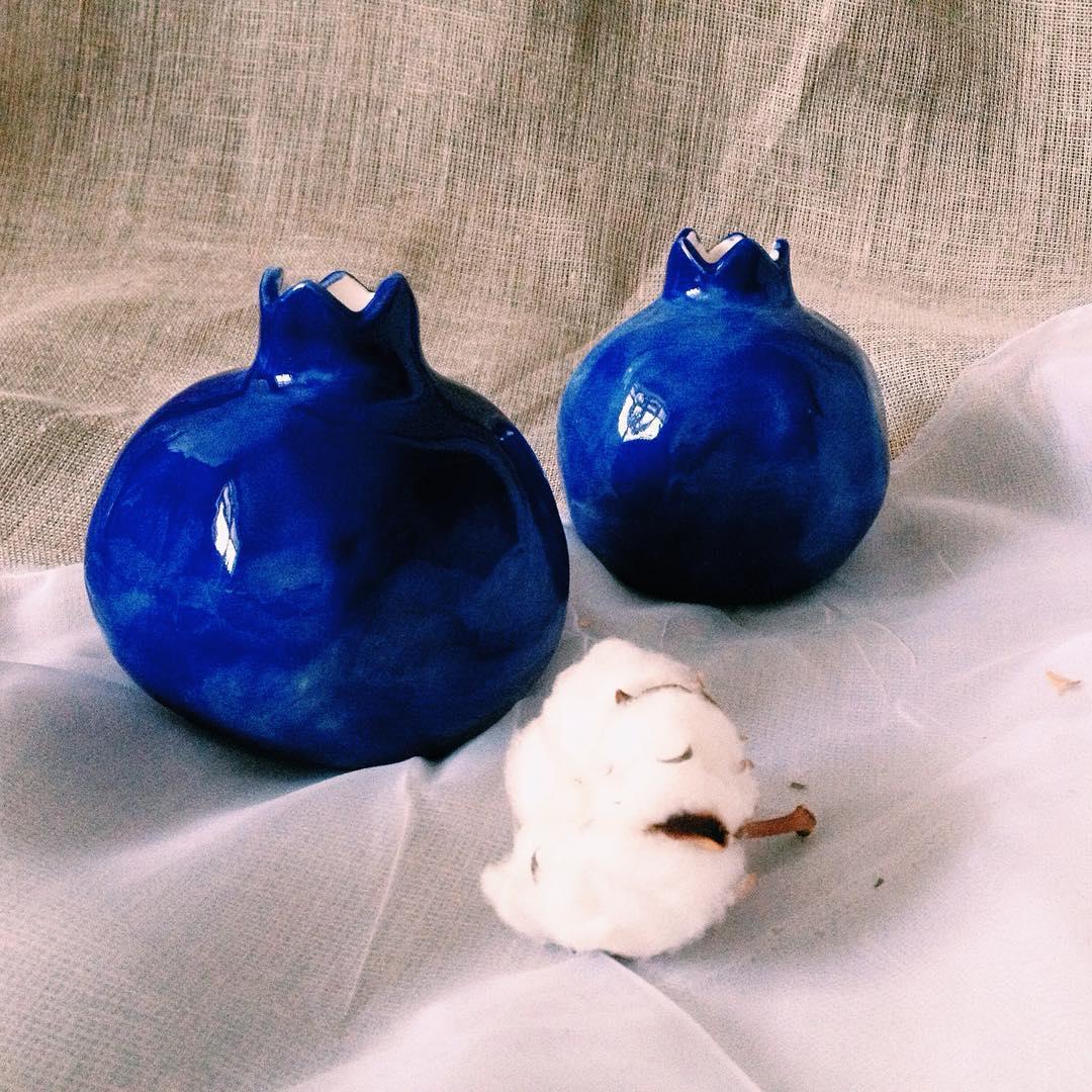гранат синий средний