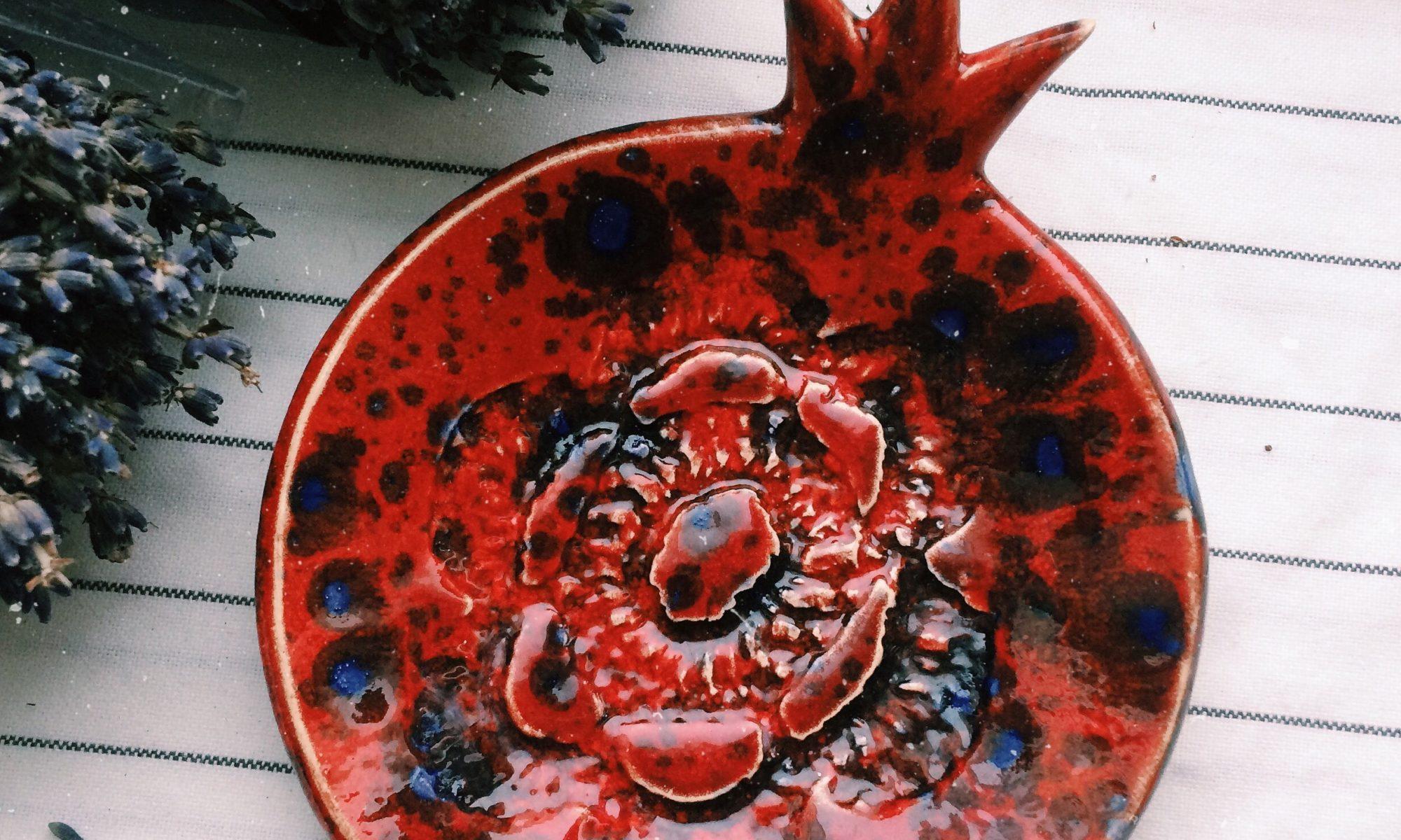 тарелка красная маленькая
