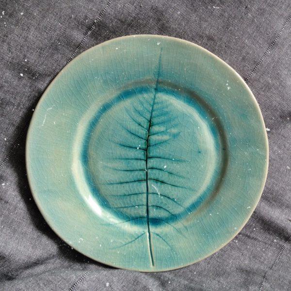 тарелка с папоротником большая