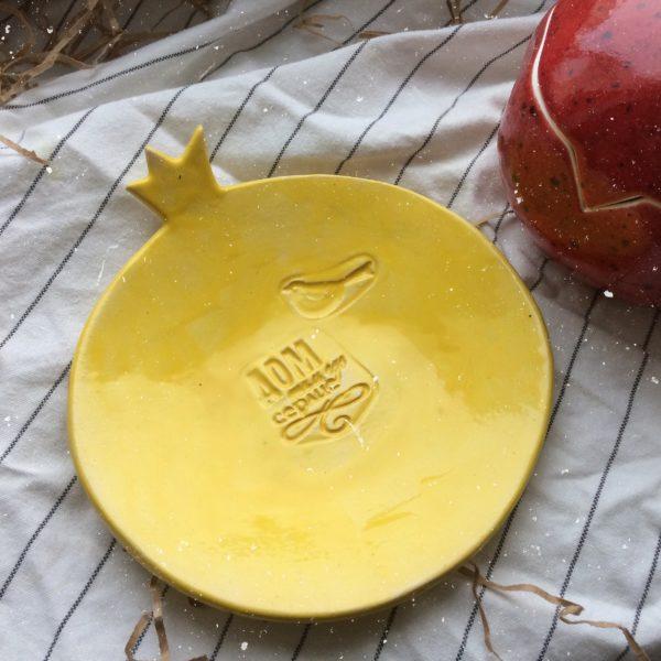 """Тарелка с надписью """"дом, там где сердце"""" маленькая"""