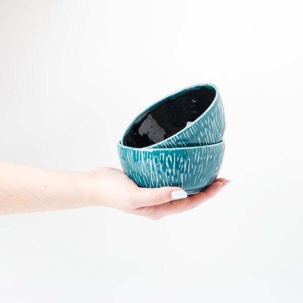 миска сине-зеленая глубокая