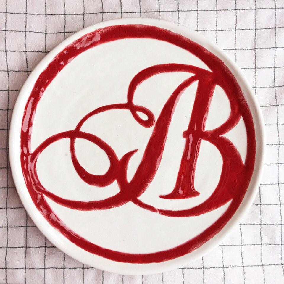 тарелка с индивидуальным декором