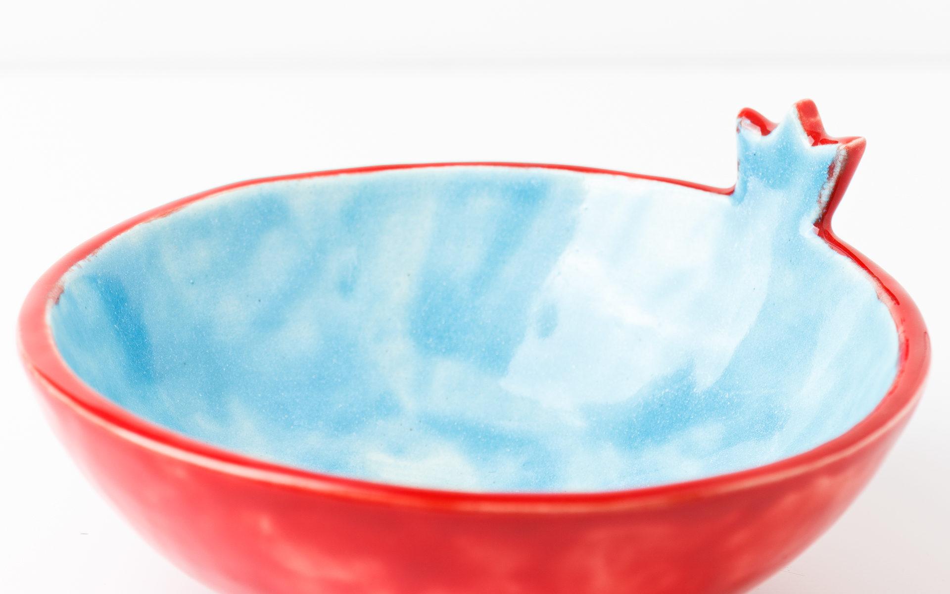 Миска голубая глубокая