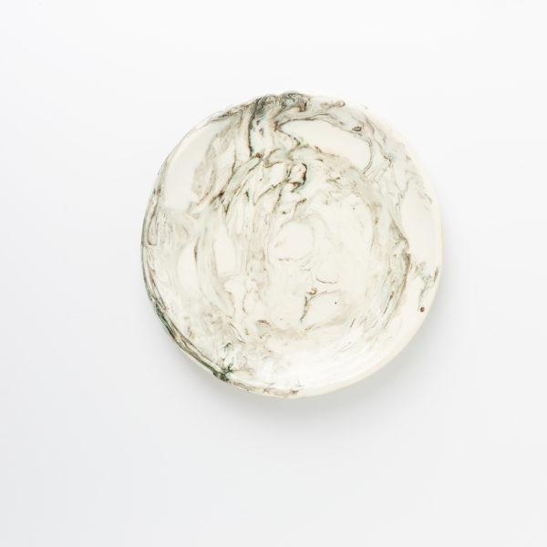 тарелка мраморная средняя