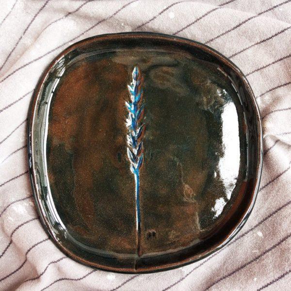 тарелка с колоском маленькая