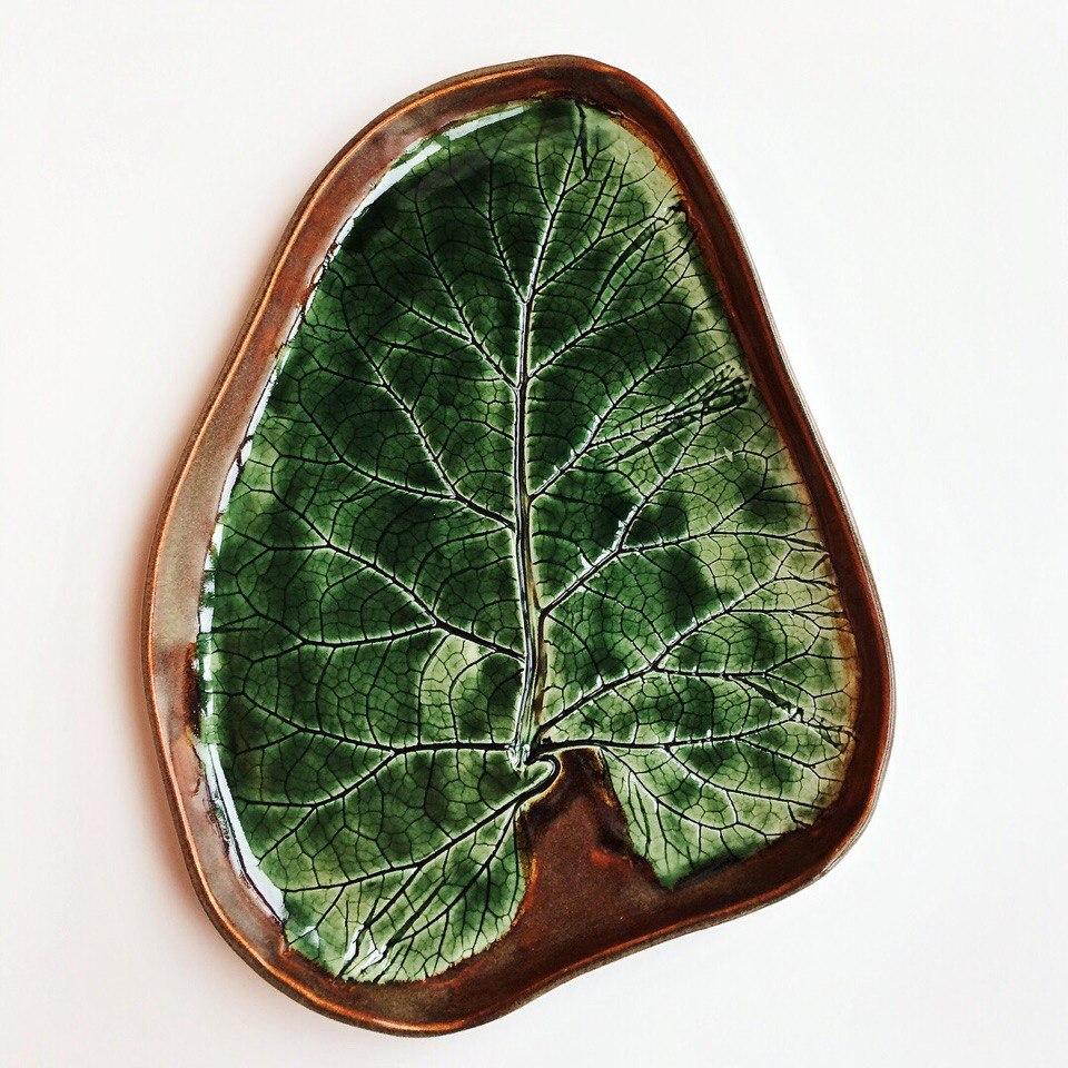 """тарелка """"листья"""" большая"""